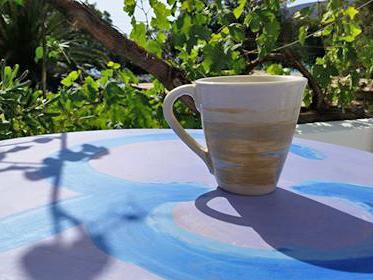 Custom made cup ceramic Anna ceramist Amorgos