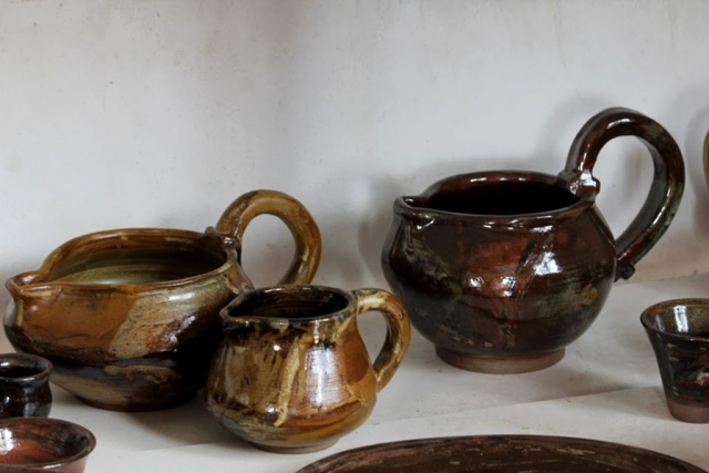 Collection ceramic jugs